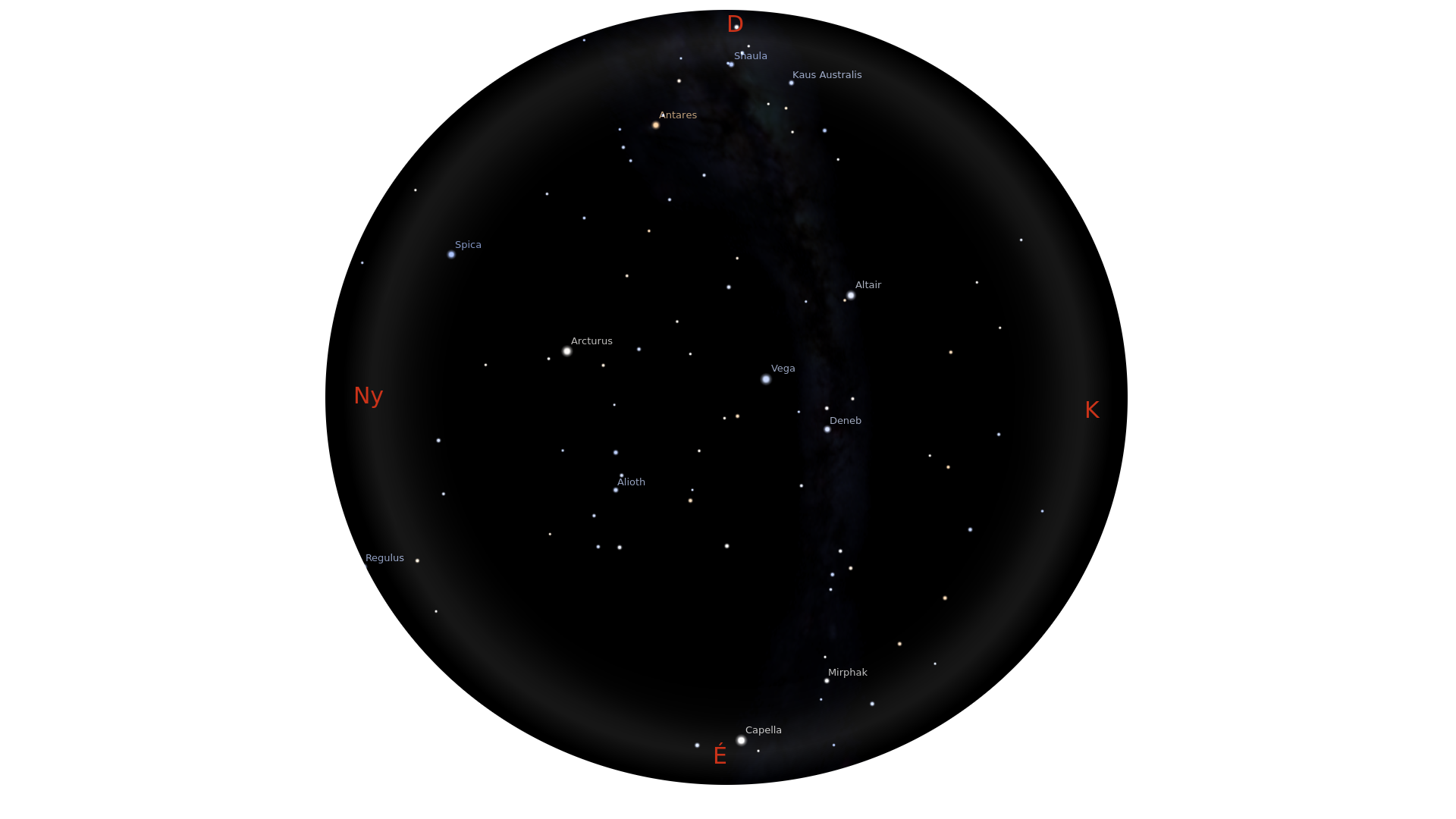 Nyári csillagok, 3-as határmagnitúdó