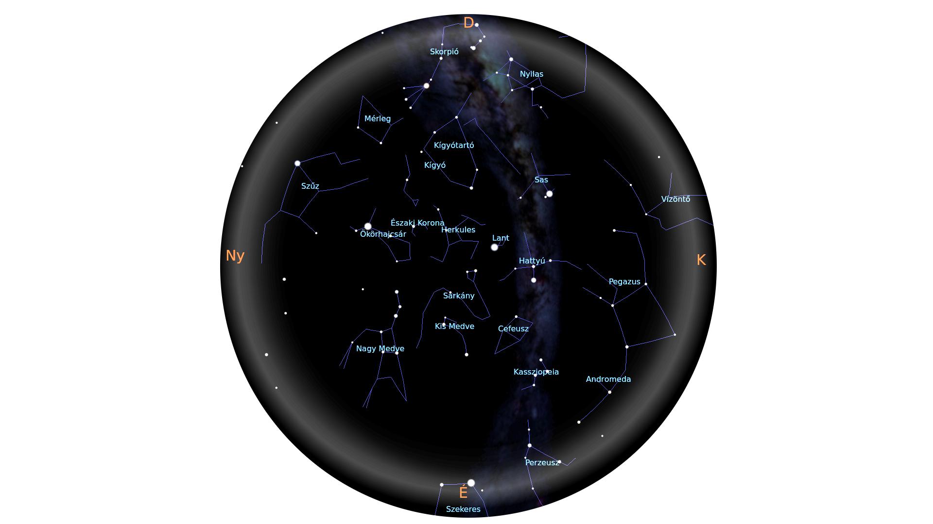 Nyári csillagképek, 3-as határmagnitúdó