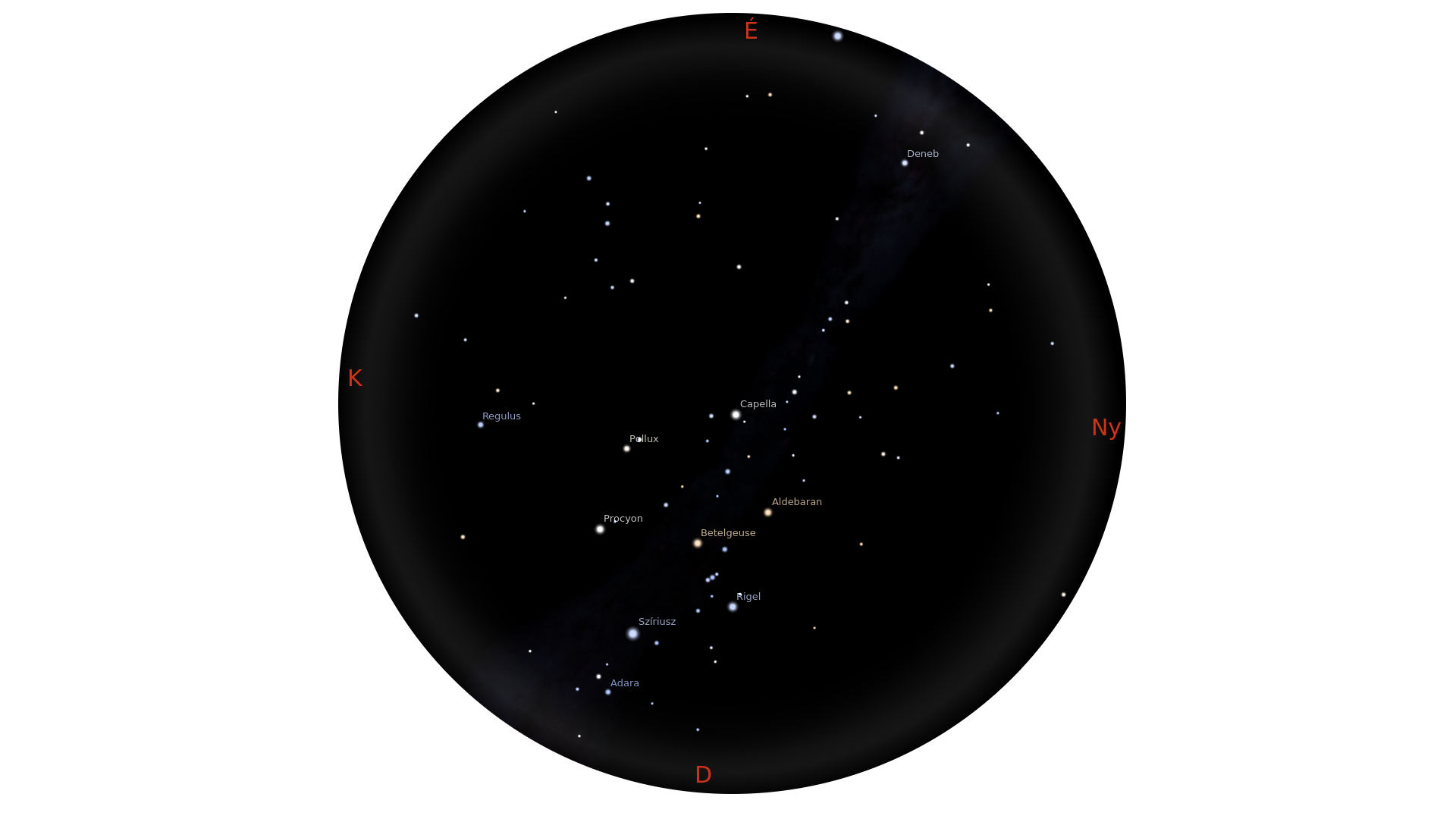 Téli csillagok, 3-as határmagnitúdó
